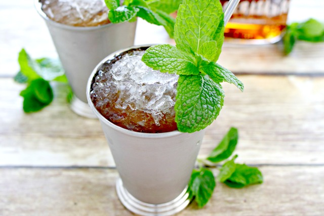 Mint Julep in a Silver Julep Cup with Mint