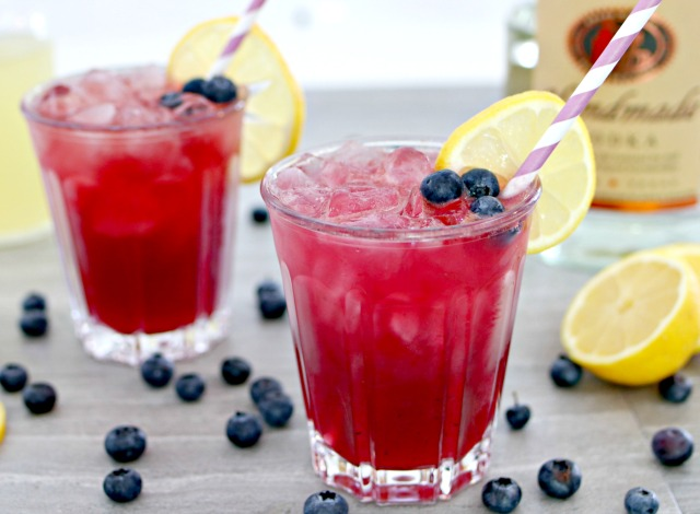 Boozy Blueberry Lemonade