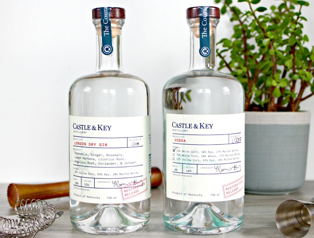 Castle & Key Restoration Release Gin and Vodka