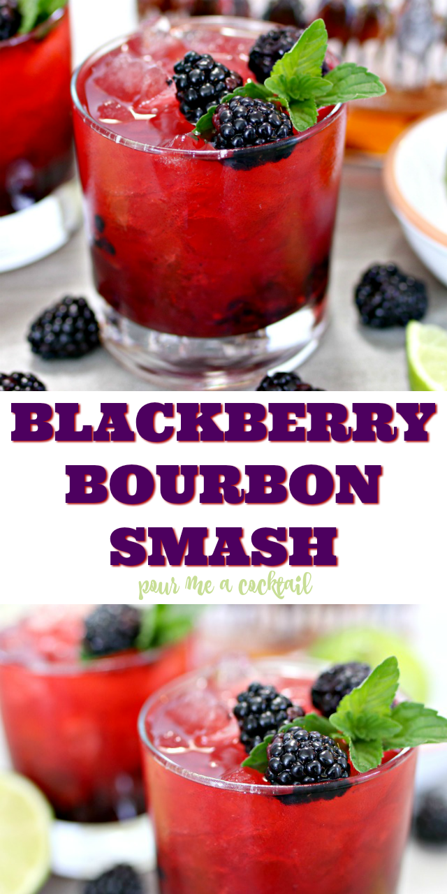 How to Make a Blackberry Bourbon Smash Cocktail