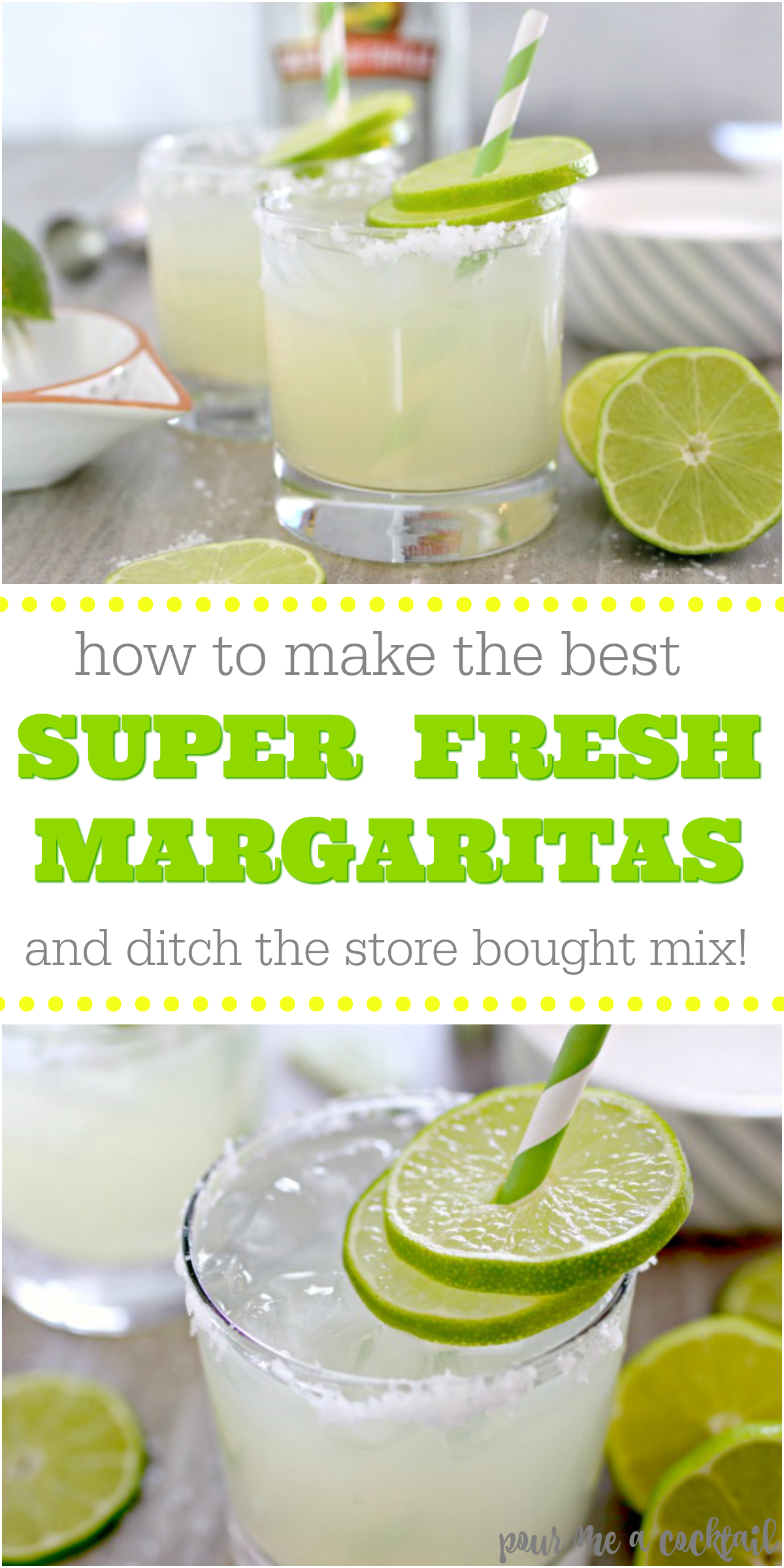 how to make fresh margaritas