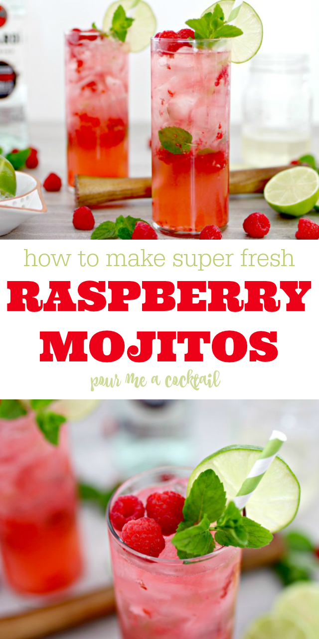 How to Make Raspberry Mojitos