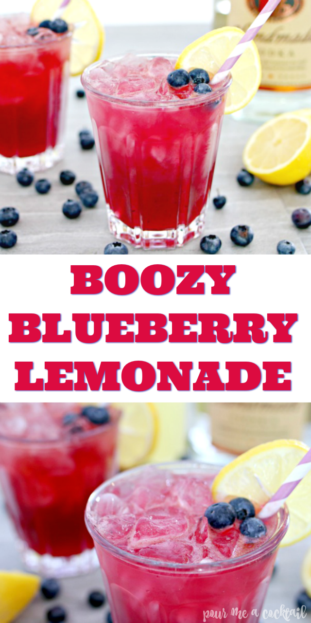 How to Make Boozy Blueberry Lemonade with Vodka