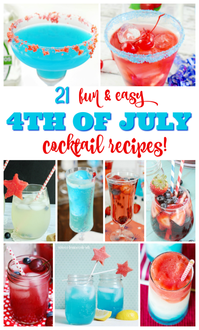 21 4th of July Red, White and Blue Cocktails