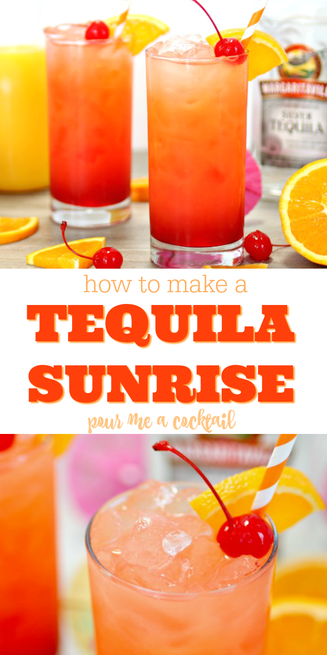 how to make a tequila sunrise cocktail