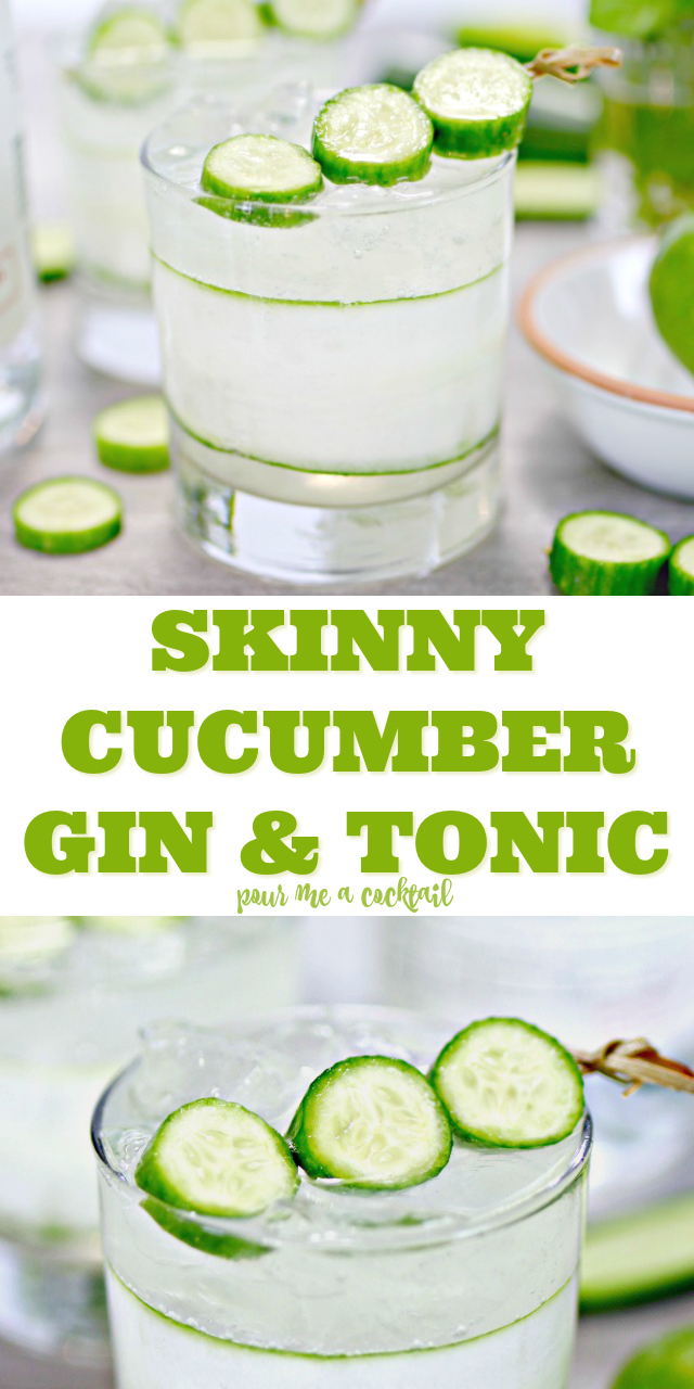 skinny cucumber gin and tonic recipe